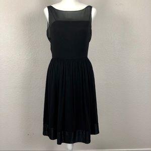 Ann Taylor black silk blend cocktail dress size 6